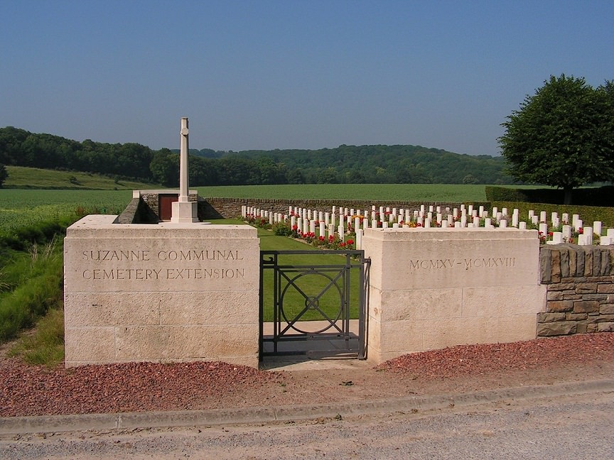 Suzanne Communal Cemetery Extension, France.