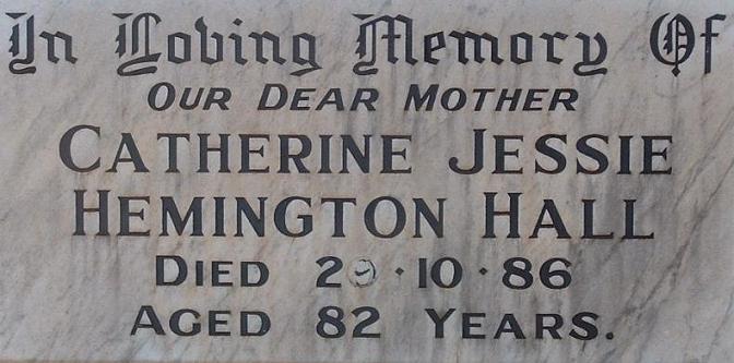 Grave of Catherine Hall