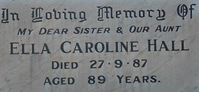 Grave of Ella Caroline Hall