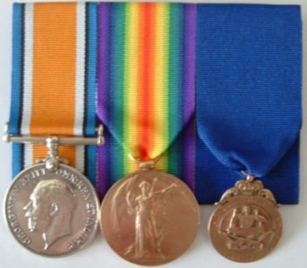 War Medals and Gold Fob to Reuben King