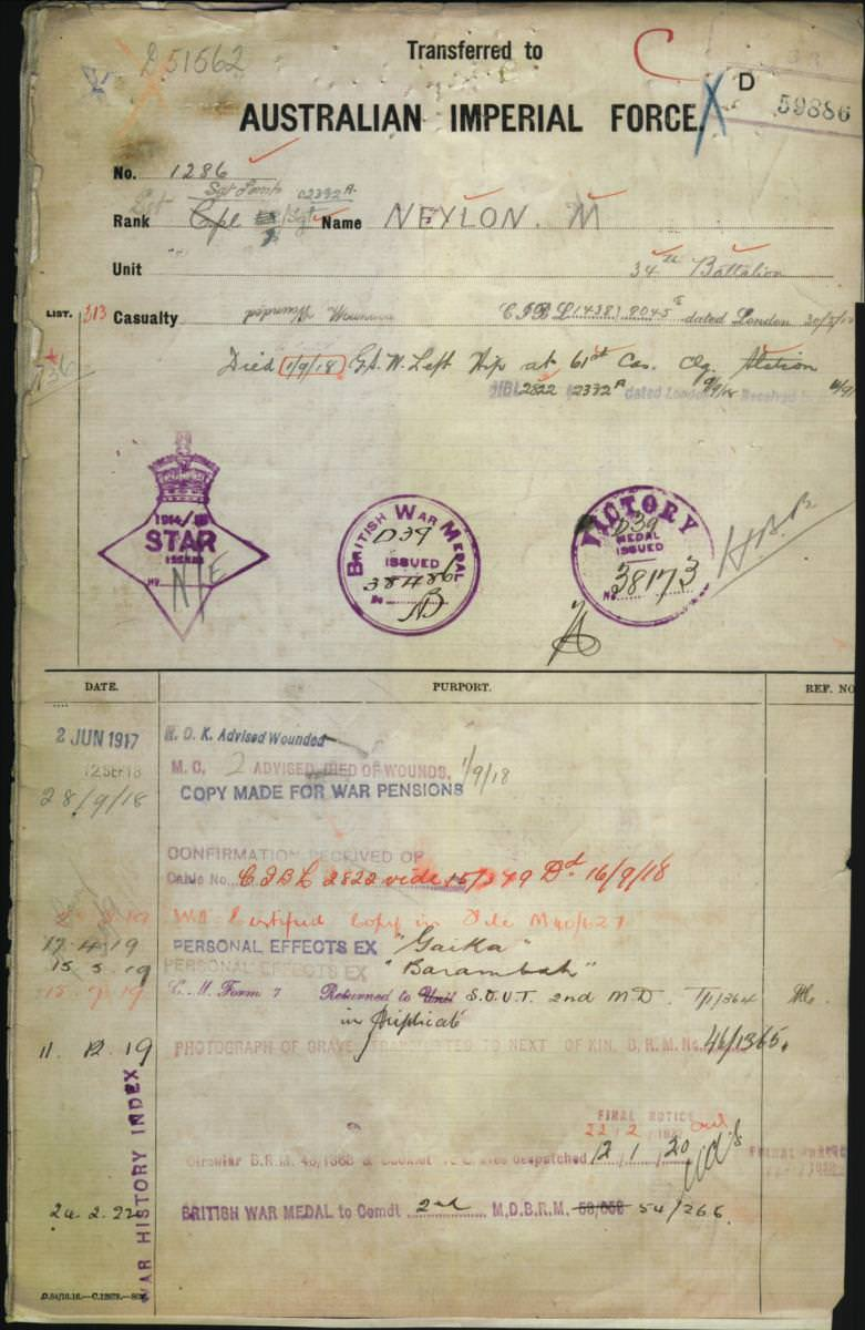 World War 1 Records
