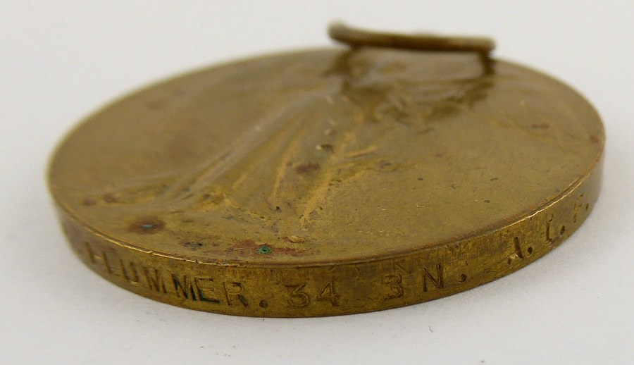 Victory Medal: to 7518 PTE S.R.PLUMMER. 34BN A.I.F.