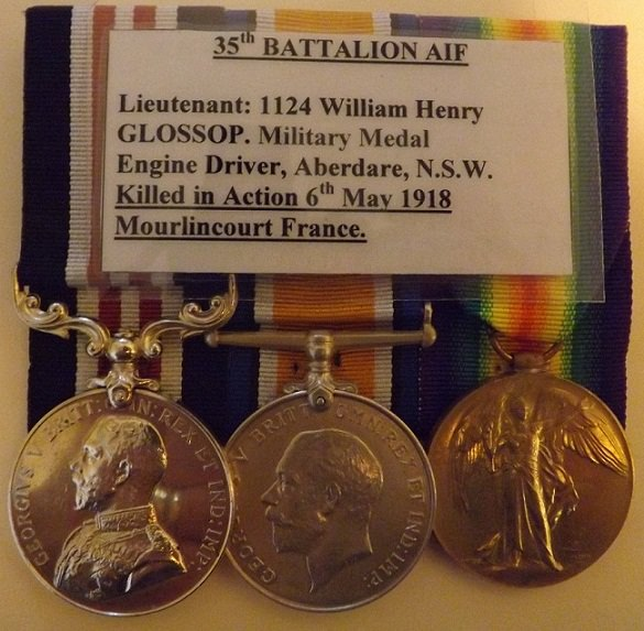 Military Medal 1124 SGT. W.H.GLOSSOP 35/AUST:INF
