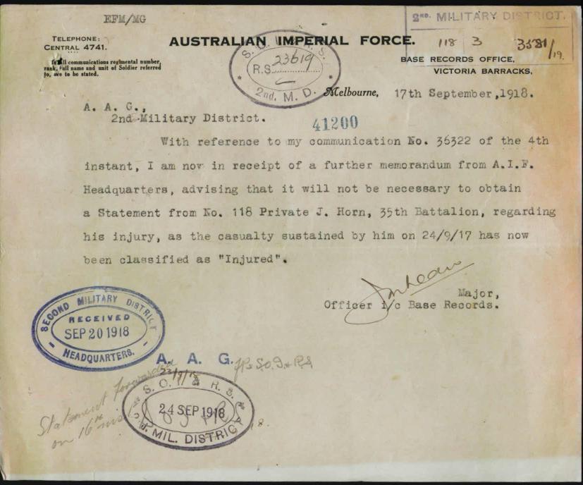 World War 1 Records