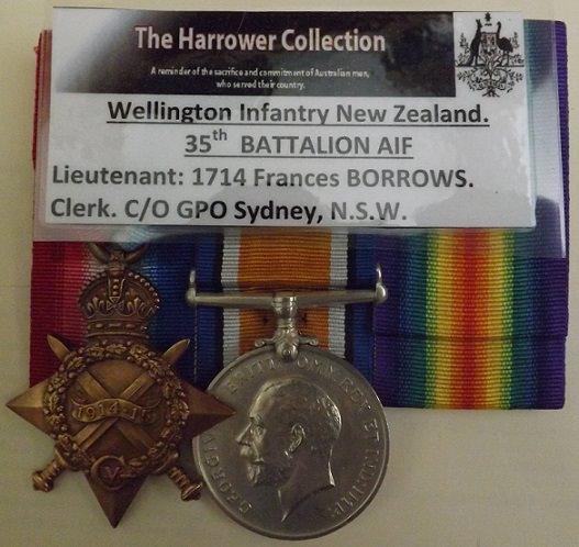 Medal to LT 1714 F BORROWS AIF