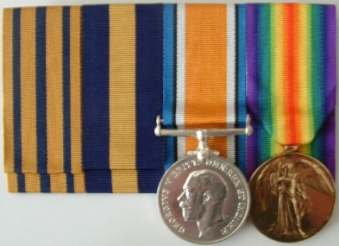 Ribbons and Medals to E R SGT 2155 H H SHAW 35BN AIF
