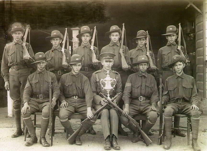 Wellington Cadet Group Photo taken at Bathurst Competition with their Martini Cadet 310 Rifles