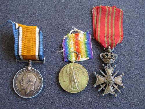 Belgian Croix de Guerre World War 1 War and Victory Medals