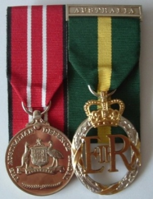 Australian Defence Medal and Efficiency Decoration to LT COL K.G.HARROWER